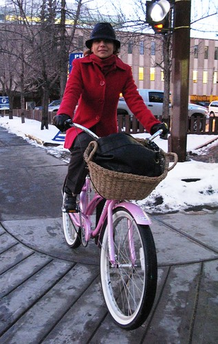 Raluca on her way to the Office