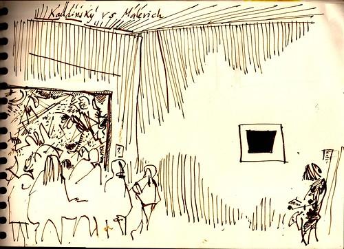 Revisitando el Hermitage en Madrid, Kandinsky versus Milevich
