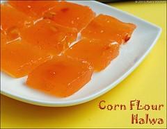 corn-flour-halwa-microwave recipe