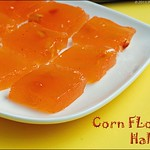 corn-flour-halwa-microwave recipe