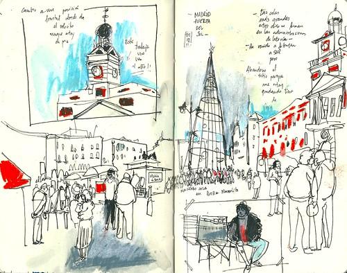 Madrid. Puerta del Sol navideña