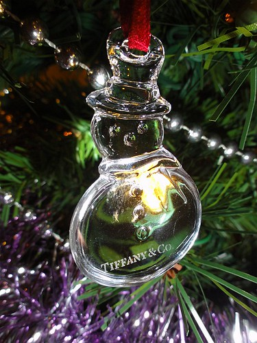 Tiffany & Co Glass Snowman Christmas Tree Decoration