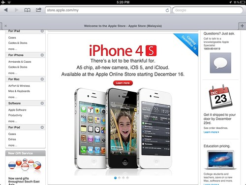 6484755945 408a650b24 iPhone 4S Available Outright In Apple Online Store Malaysia