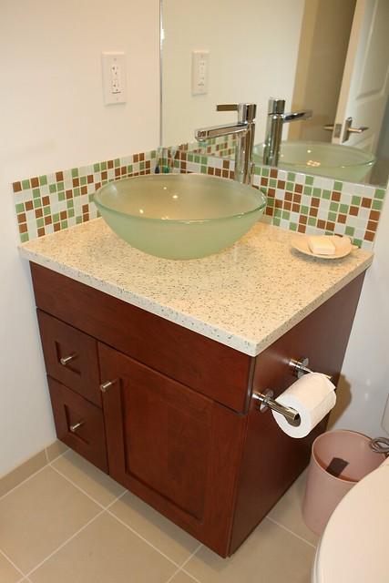 Large Glass Tile For Kitchen Backsplash