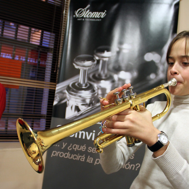 CURSO DE TROMPETA JUAN CARLOS ALANDETE – LEÓN DICIEMBRE´11 - EXPOSICIÓN DE STOMVI
