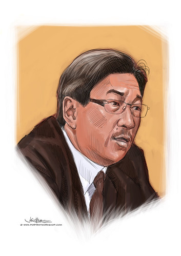 digital portrait of Ho Kong Chong - revised