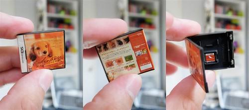 mini Nintendo DS game with cartridge.