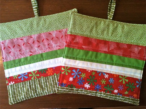 Christmas Potholders by HeatherEndearing