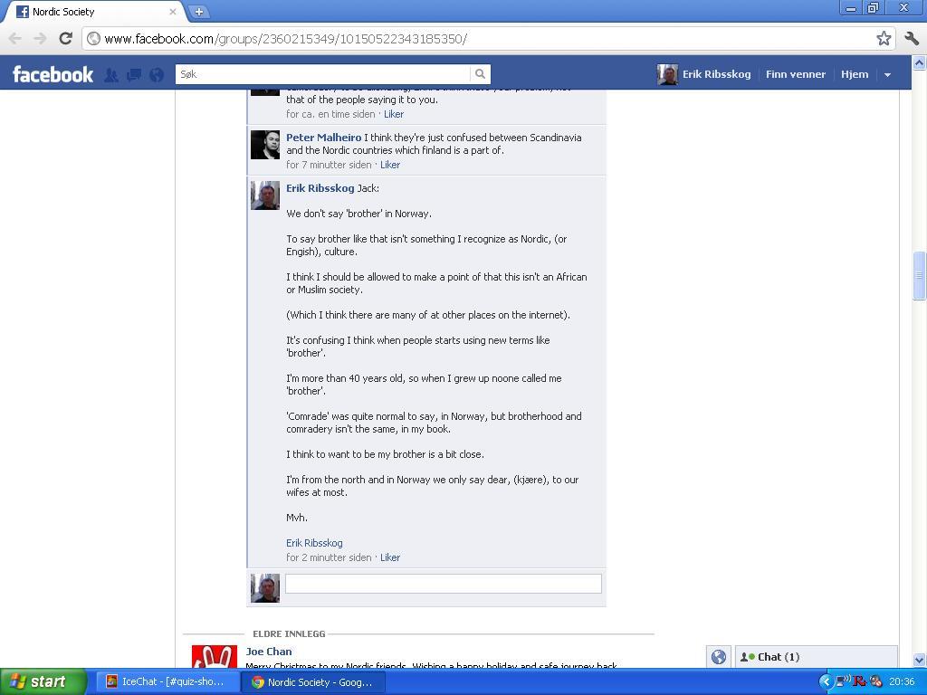 facebook nordic society