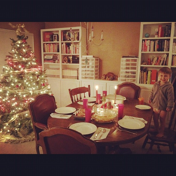Early Christmas Dinner with my Mom #christmas #tree #holiday
