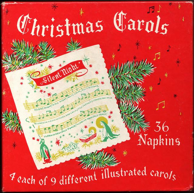 Vintage Christmas Carol Napkins