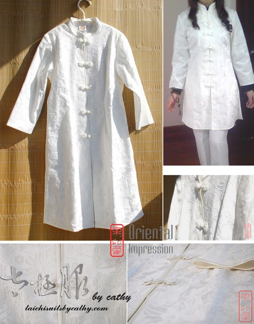 11008-4 cotton Tai Chi long coat