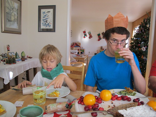 at christmas breakfast