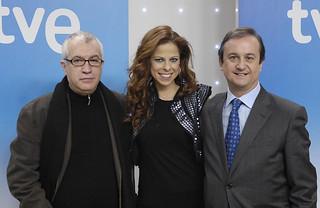 Pastora Soler y directivos de TVE