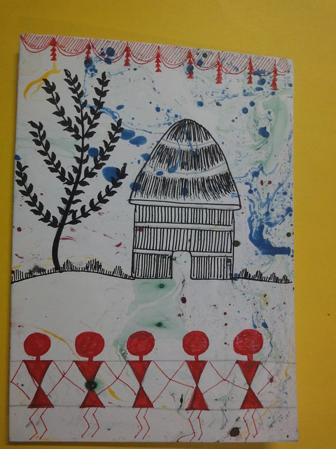 Warli art inspired new year cards 6