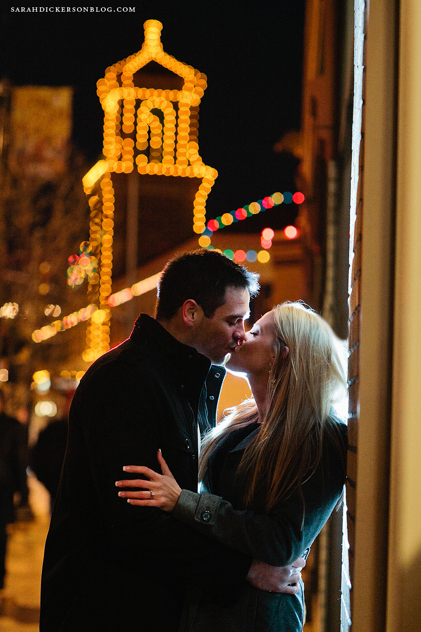 Country Club Plaza Kansas City engagement photographs