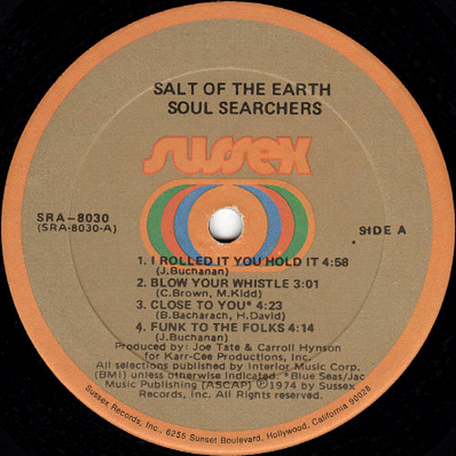 soul searchers salt of the earth label