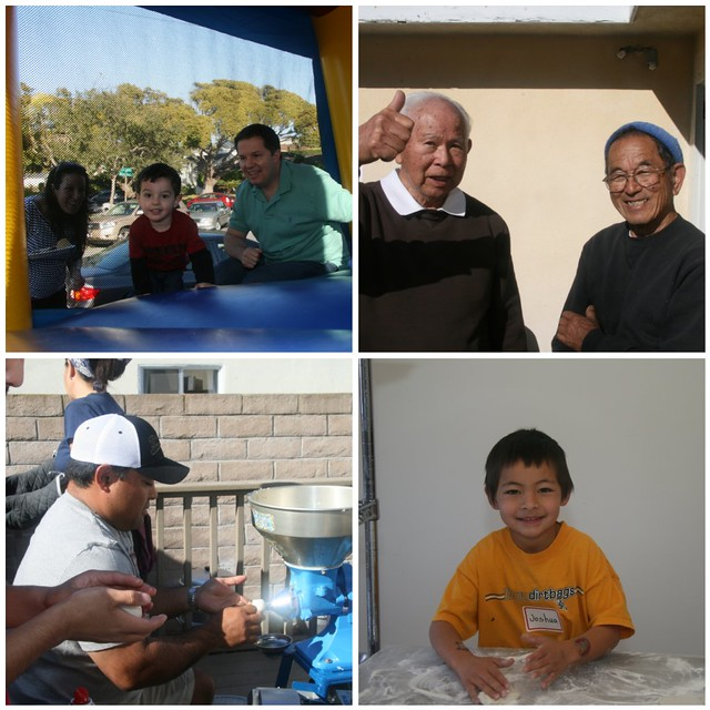 Mochi Making 2011 - collage
