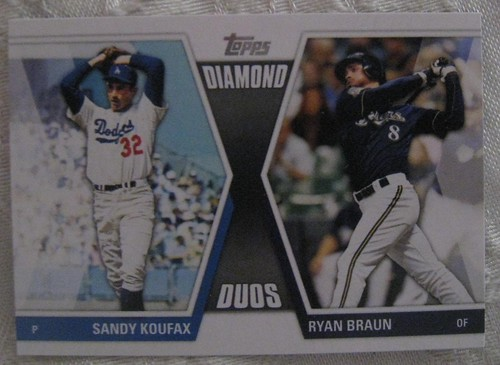 Koufax/Braun Topps Card