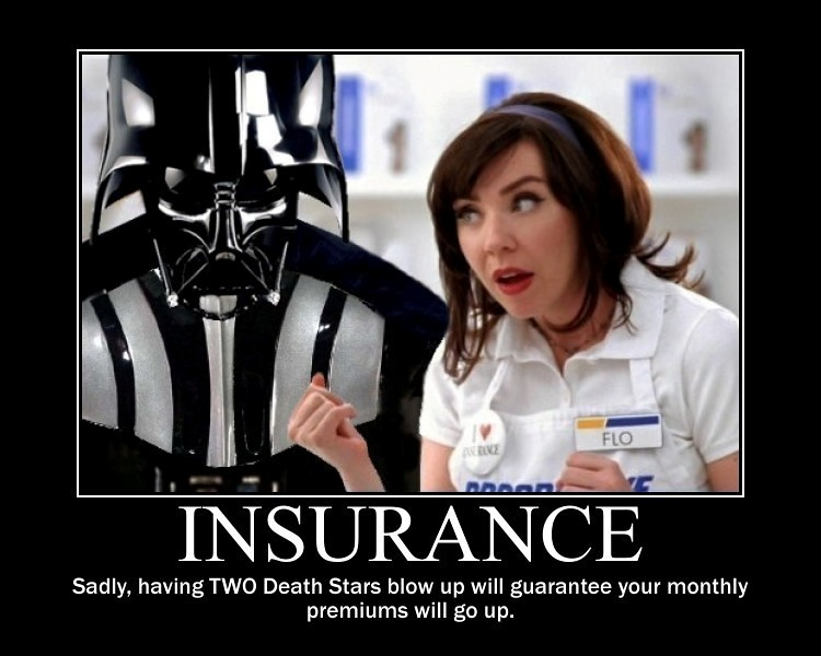 Star wars darth vader buys insurance from flo flickr - Flo progressive wallpaper ...