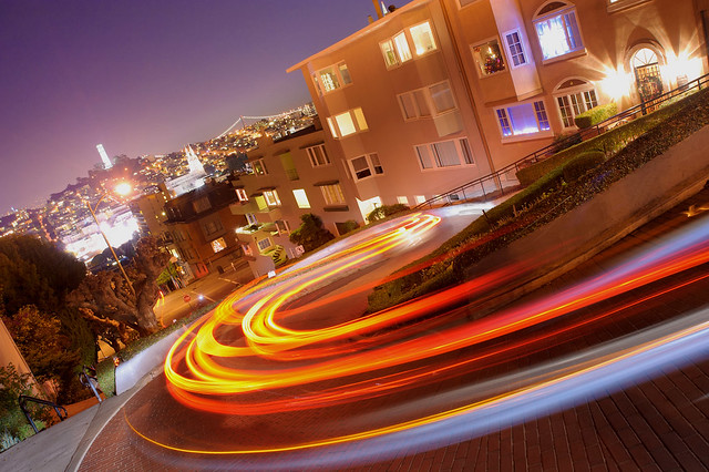 Lombard's light trail