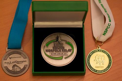 2011 running medals