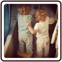 twins cleaning