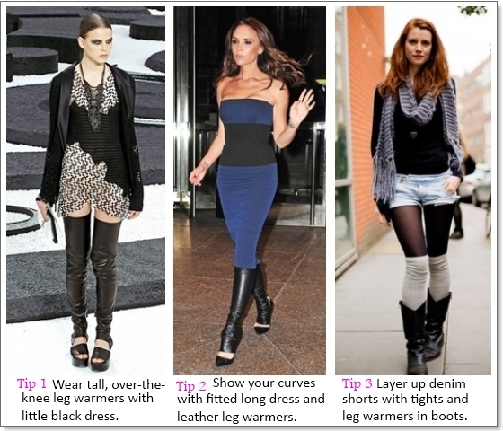 leg warmers outfit ideas