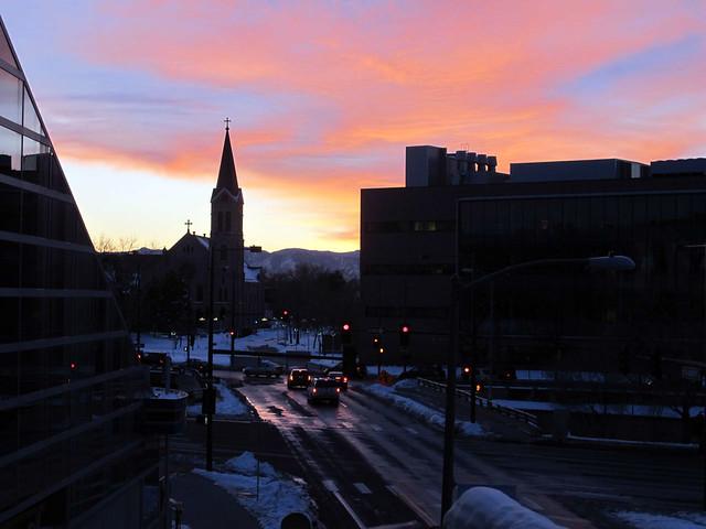Denver at dusk