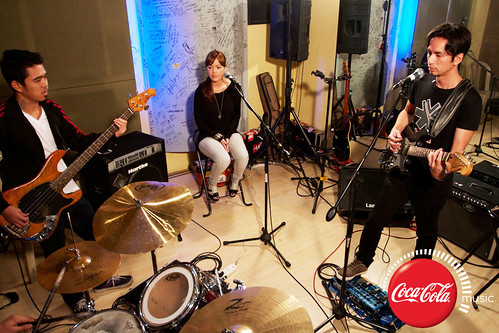 Rico Blanco and Amber Davis at Coke Music Studio - 16