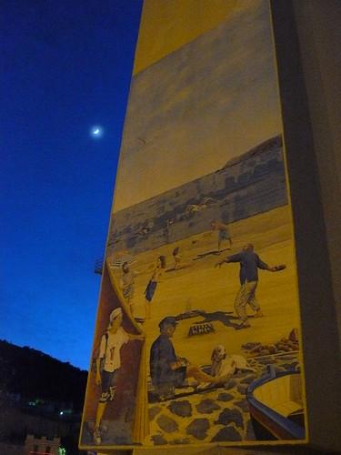 la lune et la fresque