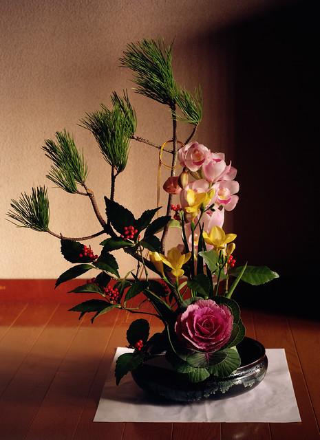 Flower arrangement of New Year holidays