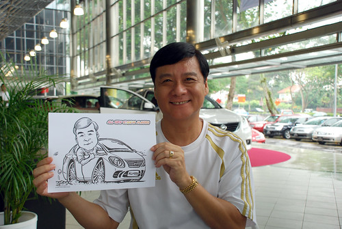 Caricature live sketching for Tan Chong Nissan Almera Soft Launch - Day 1 - 12