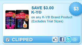 K-Y Brand Product Coupon