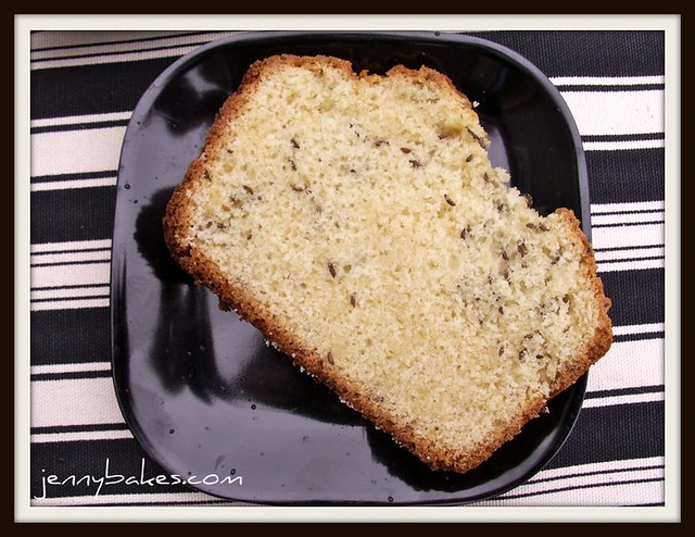 Caraway Seed Cake Slice
