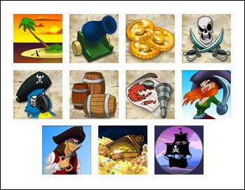 free Buccaneer's Bounty slot game symbols
