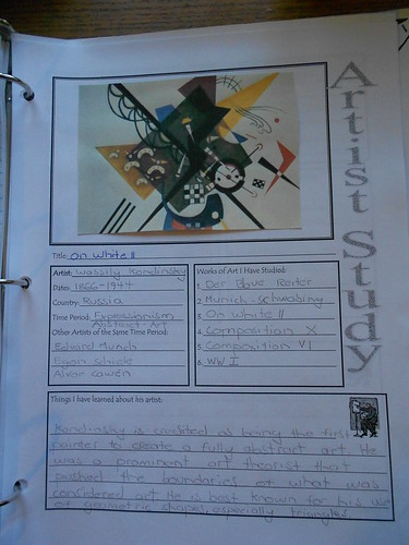 Art notebook pages - Kandinsky