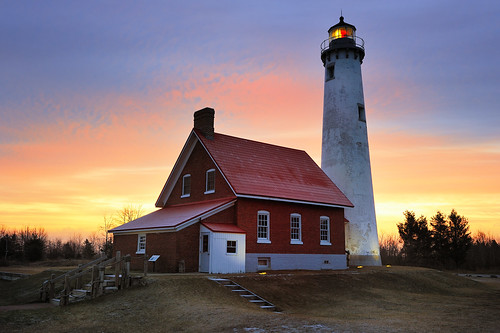 """Sunrise Side""  Tawas Point Lighthouse - East Tawas, Michigan"
