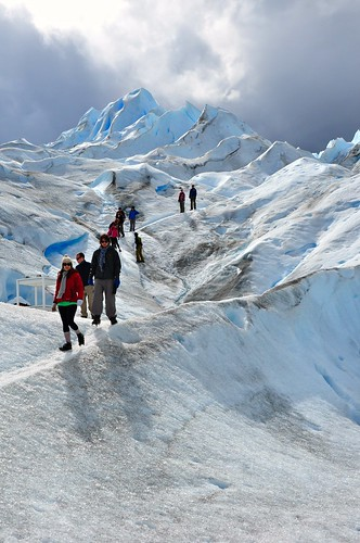 On the Perito Moreno glacier