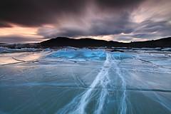Stress Fractures - Svínfellsjökull glacier, Skaftafell, Iceland