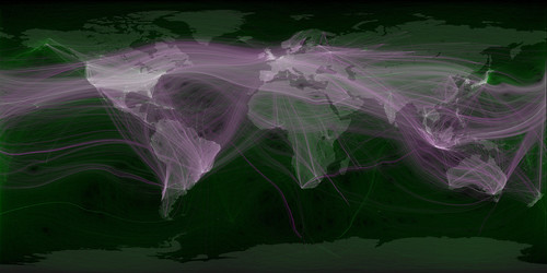 Eric Fischer - Travel and communications recorded on Twitter - World by Cea.