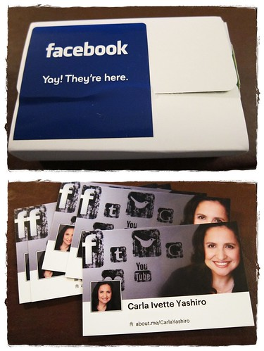 Thank you Facebook and MOO.com for my beautiful cards!