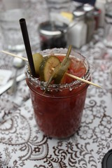 bloody mary, food, drink, cocktail, alcoholic beverage,