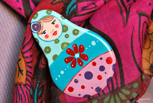 Matrioshka brooch