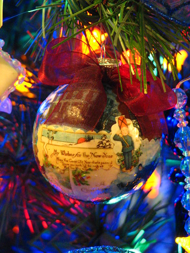 decoupaged ornament