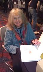 Deborah Newton signing my book!