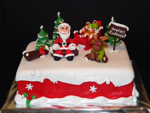 Christmas themed birthday cake | Flickr - Photo Sharing!