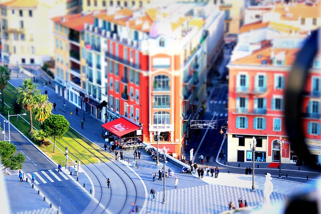 Nice, France tilt-shifted - Flickr CC ratkobozovic