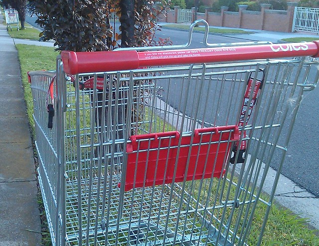Abandoned Coles trolleys