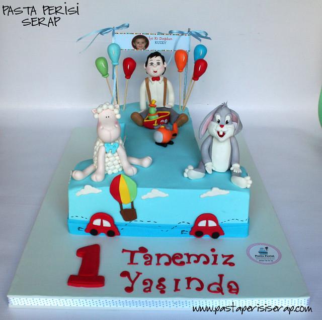 1 yaş pastası - kuzu- tavşan